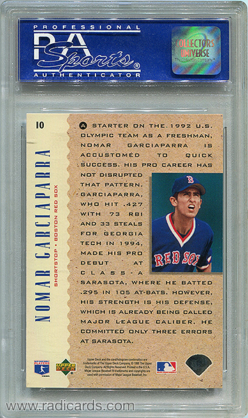 Nomar Garciaparra 1995 Upper Deck #10 Electric Diamond PSA 8