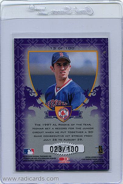 Nomar Garciaparra 1998 Donruss Crusade #13 Purple /100