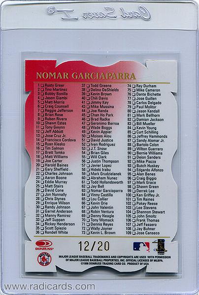 Nomar Garciaparra 1998 Leaf #198 Fractal Materials Z2 Axis /20