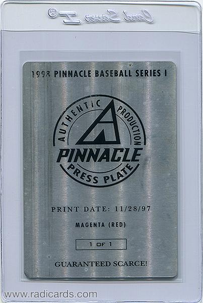Nomar Garciaparra 1998 Pinnacle Spellbound #S40 Press Plate Magenta Front /1