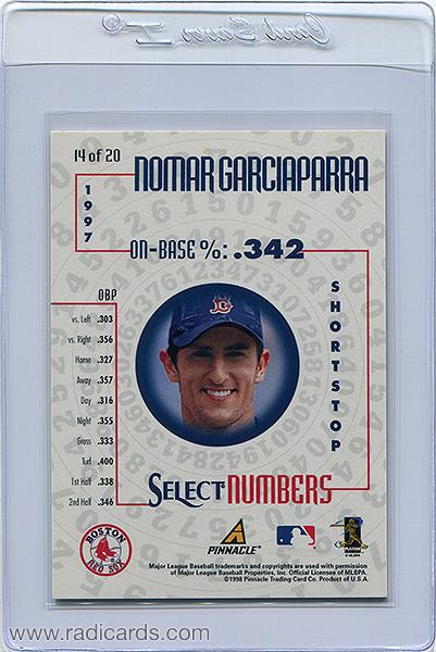 Nomar Garciaparra 1998 Select Numbers #14