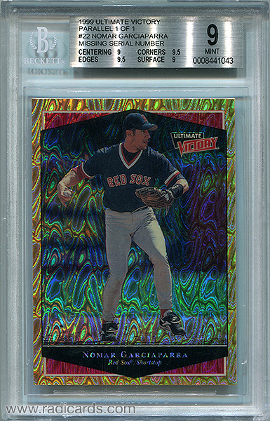 Nomar Garciaparra 1999 Ultimate Victory #22 Parallel 1 of 1 No Serial Number BGS 9