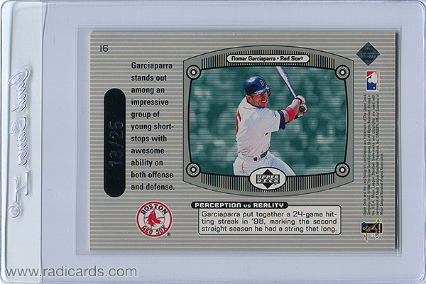 Nomar Garciaparra 1999 Upper Deck Immaculate Perception #I6 Triple /25