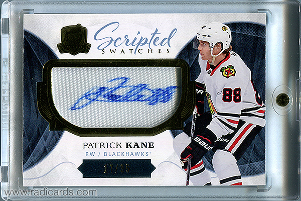Patrick Kane 2017-18 The Cup Scripted Swatches #SW-PK /35
