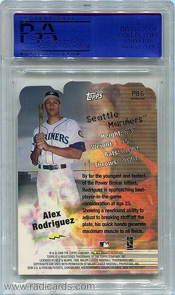Alex Rodriguez 1999 Topps Power Brokers Refractor #PB6 PSA 9