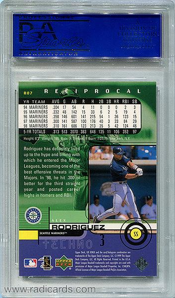 Alex Rodriguez 1999 UD Ionix #R87 Reciprocal /100 PSA 9