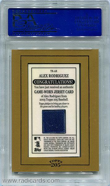 Alex Rodriguez 2003 Topps 205 Relics #TR-AR1 PSA9