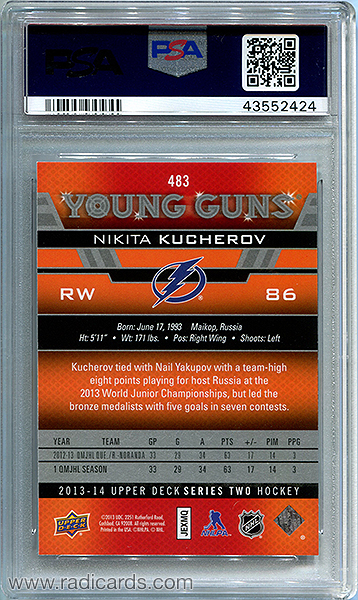 Nikita Kucherov 2013-14 Upper Deck #483 PSA 10