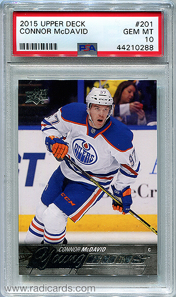Connor McDavid 2015-16 Upper Deck #201 PSA 10