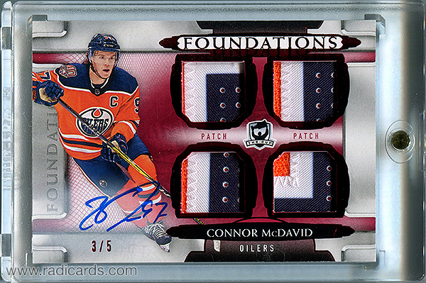 Connor McDavid 2018-19 The Cup Foundations Patch Autographs #F-CM /5