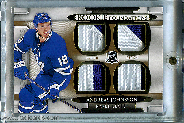 Andreas Johnsson 2018-19 The Cup Foundations Patches #F-AJ /10