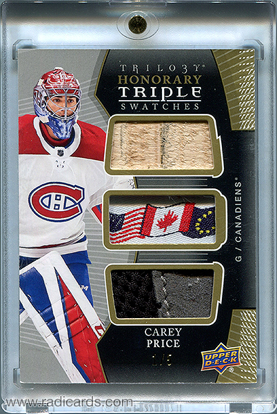 Carey Price 2018-19 Upper Deck Trilogy Honorary Triple Swatches #HTS-CP /5