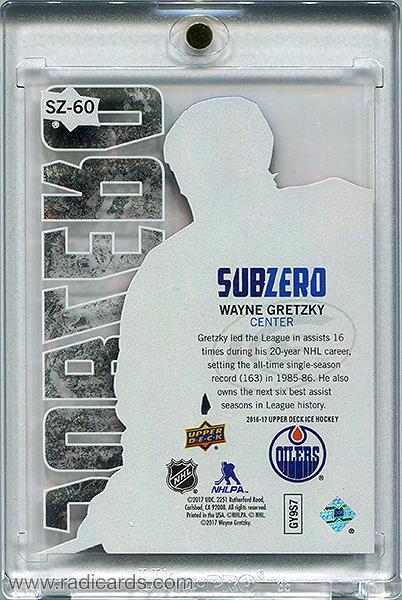Wayne Gretzky 2016-17 Upper Deck Ice Sub Zero #SZ-60
