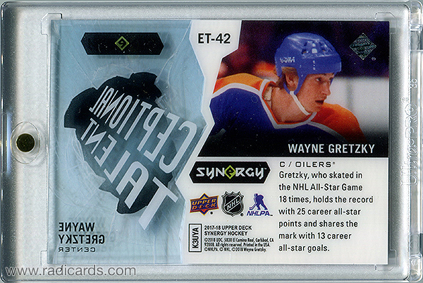 Wayne Gretzky 2017-18 Synergy Exceptional Talent #ET-42