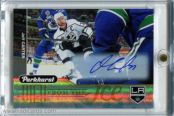 Jeff Carter 2018-19 Parkhurst View from the Ice #VI-13 Autographs