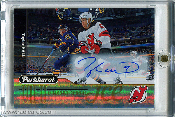 Taylor Hall 2018-19 Parkhurst View from the Ice #VI-17 Autographs