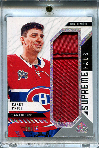 Carey Price 2018-19 SP Game Used Supreme Leg Pads #PA-CP /15