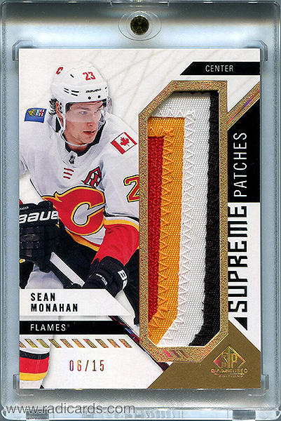 Sean Monahan 2018-19 SP Game Used Supreme Patches #PA-SM /15