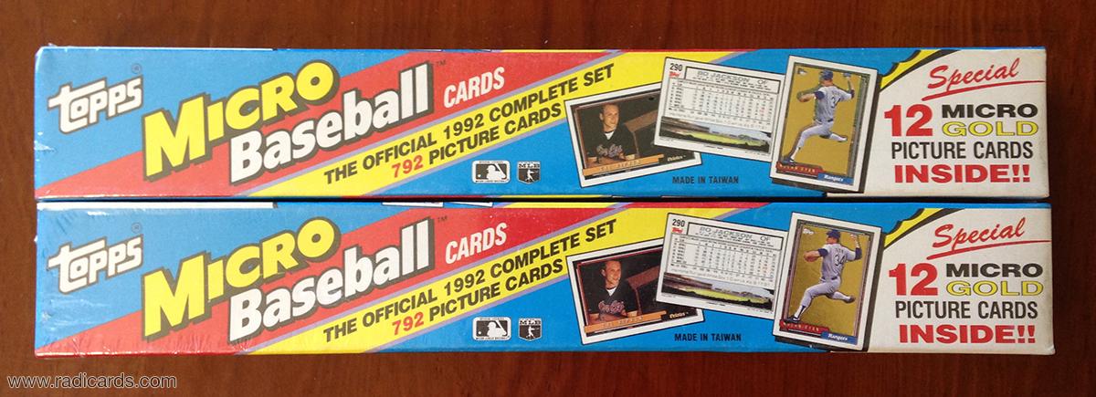 1992 Topps Micro Set Sealed x2