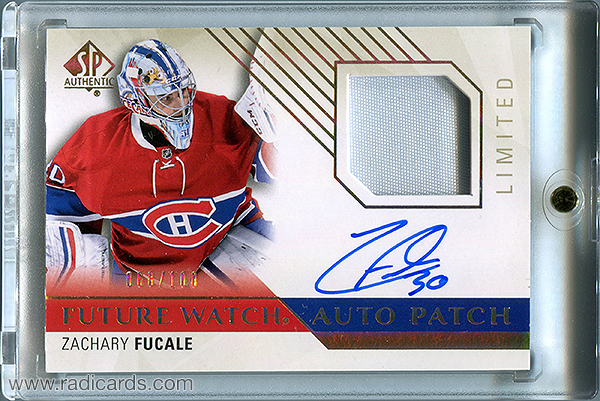 Zachary Fucale 2015-16 SP Authentic #227 Limited Patch Autographs /100
