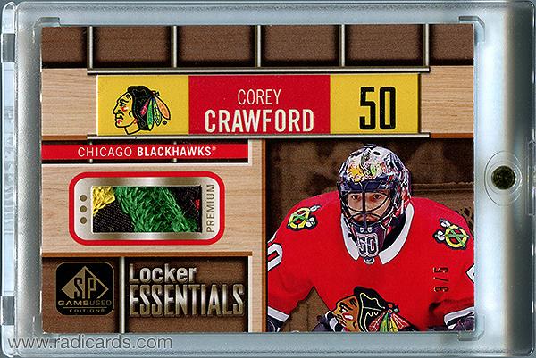 Corey Crawford 2018-19 SP Game Used Locker Essentials #LE-CC Premium Materials /5
