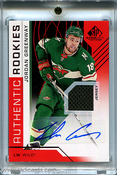 Jordan Greenway 2018-19 SP Game Used #137 Red