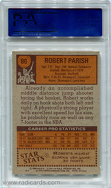 Robert Parish 1978-79 Topps #86 PSA 9