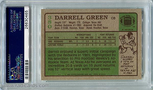 Darrell Green 1984 Topps #380 PSA 10